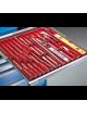 Cassettiera metallica, cm 72x73x100h, con 7 cassetti, belu ral 5012