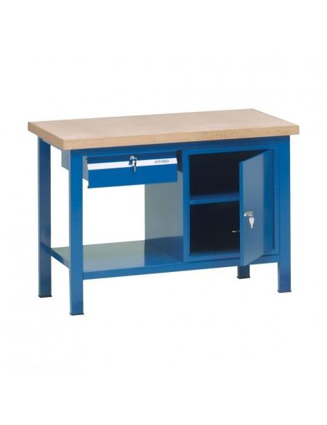 Banco da lavoro piano legno armeco arredamenti metallici - Tavolo da lavoro ikea ...